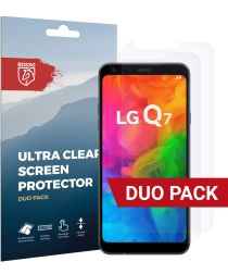 Rosso LG Q7 Ultra Clear Screen Protector Duo Pack