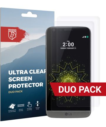 Rosso LG G5 Ultra Clear Screen Protector Duo Pack Screen Protectors