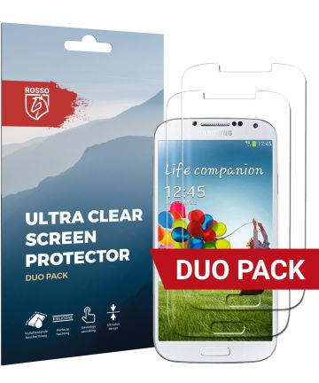 Rosso Samsung Galaxy S4 Ultra Clear Screen Protector Duo Pack Screen Protectors
