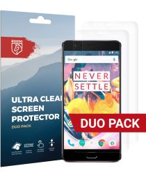 Rosso OnePlus 3 / 3T Ultra Clear Screen Protector Duo Pack