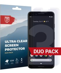 Rosso Google Pixel 3 Ultra Clear Screen Protector Duo Pack
