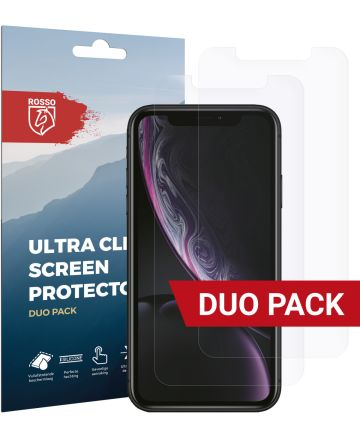Rosso Apple iPhone XR Ultra Clear Screen Protector Duo Pack