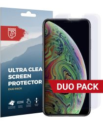 Rosso Apple iPhone XS Max Ultra Clear Screen Protector Duo Pack