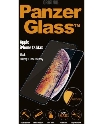 PanzerGlass Apple iPhone XS Max Privacy Glass Screenprotector Zwart
