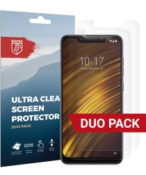 Rosso Xiaomi Pocophone F1 Ultra Clear Screen Protector Duo Pack