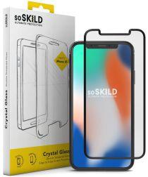 SoSkild iPhone X(s) Tempered Glass Edge to Edge Screenprotector Zwart