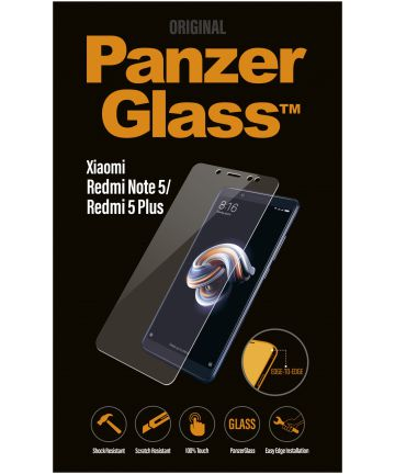 PanzerGlass Xiaomi Redmi Note 5 Edge To Edge Screenprotector