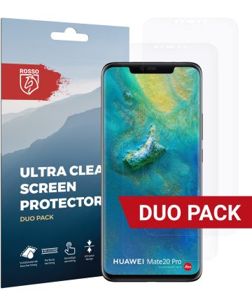 Rosso Huawei Mate 20 Pro Ultra Clear Screen Protector Duo Pack