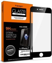 Spigen Apple iPhone 8 / 7 Full Tempered Glass Screen Protector Zwart