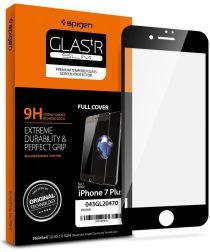 Spigen iPhone 8 / 7 Plus Full Tempered Glass Screen Protector Zwart