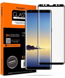 Spigen Galaxy Note 8 Curved Tempered Glass Screen Protector Zwart