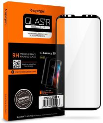 Spigen Samsung Galaxy S9 Curved Tempered Glass Screen Protector Zwart