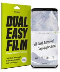Ringke DualEasy Anti-Stof Screen Protector Galaxy S8 Plus [2-Pack]