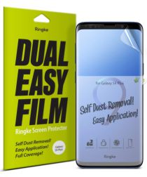Ringke DualEasy Anti-Stof Screen Protector Galaxy S9 Plus [2-Pack]