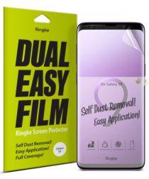 Ringke DualEasy Anti-Stof Screen Protector Galaxy S9 [2-Pack]