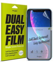 Ringke DualEasy Anti-Stof Screen Protector Apple iPhone XR [2-Pack]