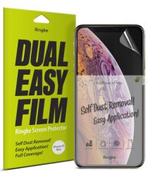 Ringke DualEasy Anti-Stof Screen Protector Apple iPhone XS Max 2-Pack