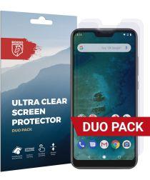 Rosso Xiaomi Mi A2 Lite Ultra Clear Screen Protector Duo Pack