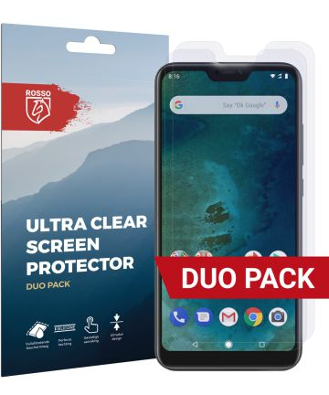 Rosso Xiaomi Mi A2 Lite Ultra Clear Screen Protector Duo Pack Screen Protectors