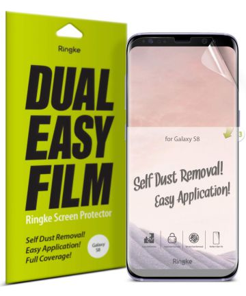 Ringke DualEasy Anti-Stof Screen Protector Galaxy S8 [2-Pack]