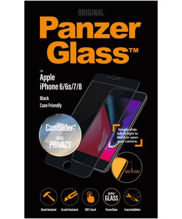 PanzerGlass Privacy Camslider Case Friendly Screenprotector iPhone 8/7