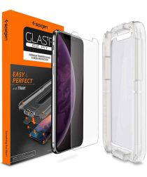 Spigen Apple iPhone XS Ez Fit HD Tempered Glass Screen Protector