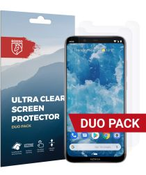 Rosso Nokia 8.1 Ultra Clear Screen Protector Duo Pack