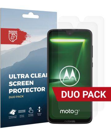 Rosso Motorola Moto G7 Ultra Clear Screen Protector Duo Pack Screen Protectors
