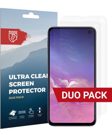Rosso Samsung Galaxy S10E Ultra Clear Screen Protector Duo Pack