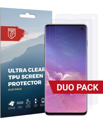 Rosso Samsung Galaxy S10 Ultra Clear Screen Protector Duo Pack