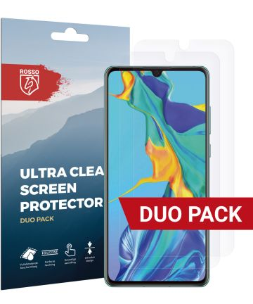 Rosso Huawei P30 Ultra Clear Screen Protector Duo Pack