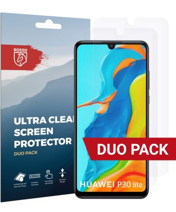 Rosso Huawei P30 Lite Ultra Clear Screen Protector Duo Pack Screen Protectors