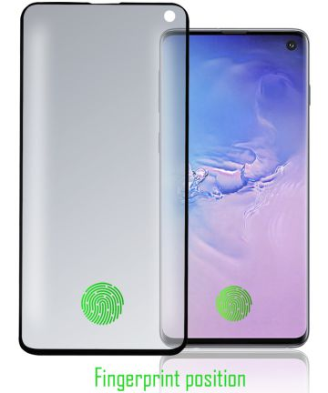 4Smarts Second Glass Colour Frame Samsung Galaxy S10 Zwart