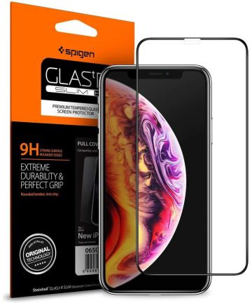 Spigen Apple iPhone XS / X Full Cover Tempered Glass Screen Protector