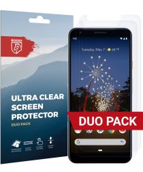 Rosso Google Pixel 3A XL Ultra Clear Screen Protector Duo Pack
