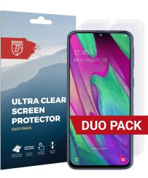 Rosso Samsung Galaxy A40 Ultra Clear Screen Protector Duo Pack