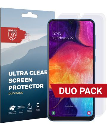 Rosso Samsung Galaxy A50 Ultra Clear Screen Protector Duo Pack Screen Protectors