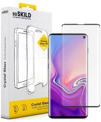 SoSkild Galaxy S10 Plus Tempered Glass Full Glue Screenprotector Zwart