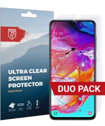 Rosso Samsung Galaxy A70 Ultra Clear Screen Protector Duo Pack