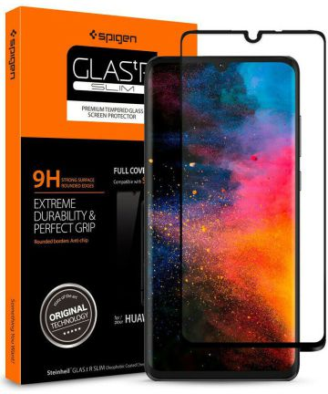 Spigen Huawei P30 Tempered Glass Screen Protector Zwart
