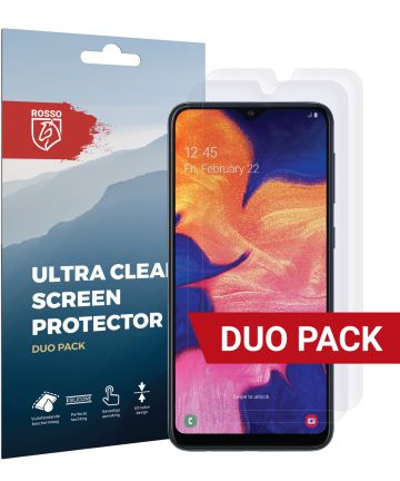 Rosso Samsung Galaxy A10 Ultra Clear Screen Protector Duo Pack