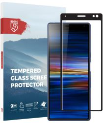 Rosso Sony Xperia 10 Plus 9H Tempered Glass Screen Protector Zwart
