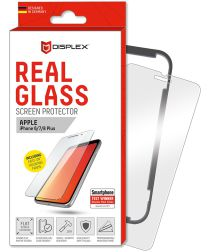 Displex 2D Real Glass + Frame Apple iPhone 8/7/6 Plus Screen Protector