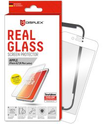 Displex 3D Glass + Frame Apple iPhone 8/7/6 Plus Screen Protector Wit