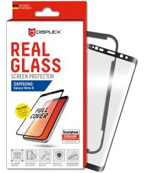 Displex 3D Glass + Frame Samsung Galaxy Note 8 Screen Protector Zwart