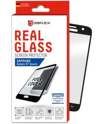 Displex 3D Real Glass Samsung Galaxy S7 Screen Protector Zwart