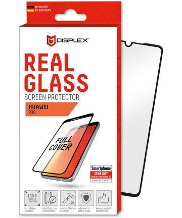 Displex 3D Real Glass Huawei P30 Screen Protector Zwart