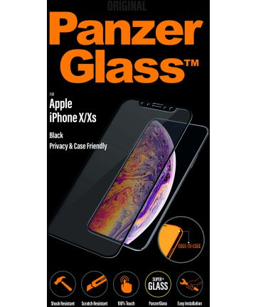 PanzerGlass iPhone X(s) Privacy Glass & Case Friendly Screenprotector