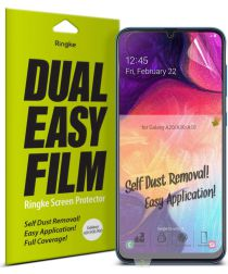Ringke DualEasy Anti-Stof Screen Protector Galaxy A50 [2-Pack]