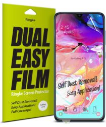 Ringke DualEasy Anti-Stof Screen Protector Galaxy A70 [2-Pack]